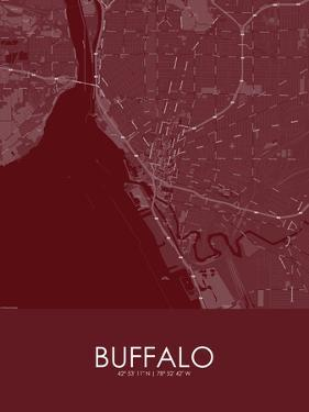 Buffalo, United States of America Red Map