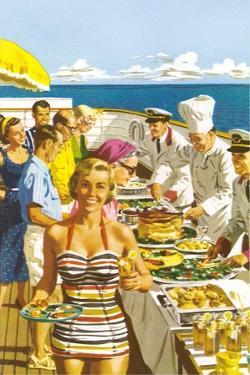 Buffet on the Cruise Ship