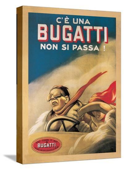 Bugatti, 1922-Marcello Dudovich-Stretched Canvas Print