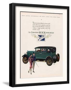 Buick, Magazine Advertisement, USA, 1927