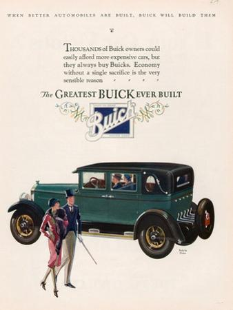 Buick, Magazine Advertisement, USA, 1927