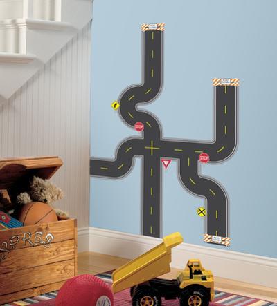 Build-A-Road Peel & Stick Wall Decals