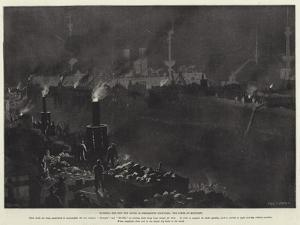 Building the New Dry Docks in Portsmouth Dockyard, the Scene at Midnight