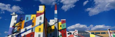 Building with Geometric Decorations, Minneapolis, Minnesota, USA