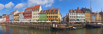 Buildings Along a Canal with Boats, Nyhavn, Copenhagen, Denmark