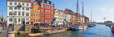 Buildings Along a Canal with Boats, Nyhavn, Copenhagen, Denmark