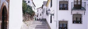 Buildings along a Street, Albacin, Granada, Spain