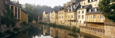 Buildings Along Alzette River, Luxembourg City, Luxembourg