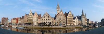 Buildings along the Graslei, Ghent, East Flanders, Flemish Region, Belgium