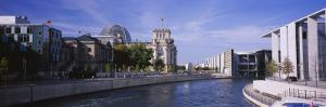 Buildings Along the Reichstag, Spree River, Berlin, Germany
