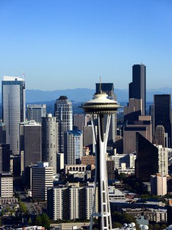 Buildings and High Rises with Historic Space Needle in Seattle, Washington