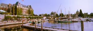 Buildings at the Waterfront, Empress Hotel, Inner Harbor, Victoria, Vancouver Island
