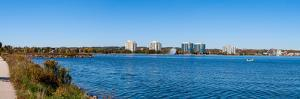 Buildings at the waterfront, Kempenfelt Bay, Barrie, Ontario, Canada