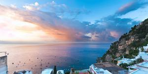 Buildings at the Waterfront, Positano, Amalfi Coast, Province of Salerno, Campania, Italy