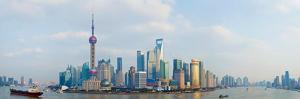Buildings at the Waterfront, Pudong, Huangpu River, Shanghai, China