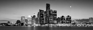 Buildings at the Waterfront, River Detroit, Detroit, Michigan, USA