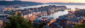 Buildings in a City, Bergen, Hordaland County, Norway
