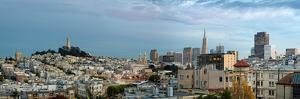 Buildings in a city, Coit Tower, San Francisco, California, USA