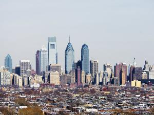 Buildings in a City, Comcast Center, Center City, Philadelphia, Philadelphia County