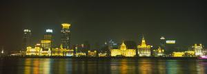 Buildings Lit Up at Night, the Bund, Shanghai, China