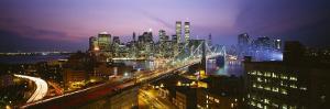 Buildings Lit Up at Night, World Trade Center, Manhattan, New York City, New York, USA