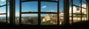 Buildings Viewed Through from a Window of Lacerda Elevator, Pelourinho, Salvador, Bahia, Brazil