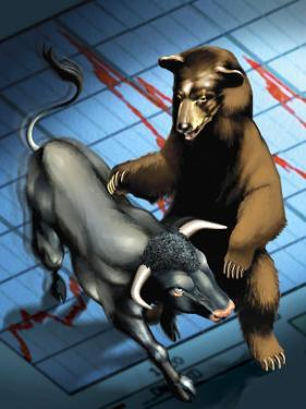 Bull and Bear Fighting