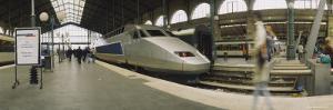 Bullet Train at a Railroad Station, Paris, France