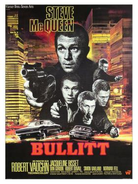 Bullitt, French Movie Poster, 1968
