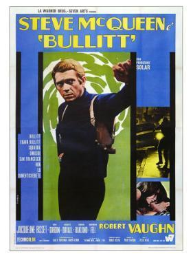 Bullitt, Italian Movie Poster, 1968
