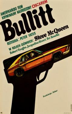 Bullitt, Polish Movie Poster, 1968