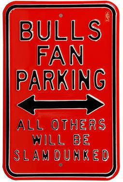 Bulls Slam Dunked Parking Steel Sign