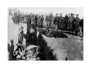 Bureal (Burial) of the Dead at the Battlefield of Wounded Knee, South Dakota, 1891