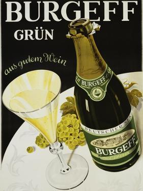 Burgeff Grun Champagne Advertisement Poster