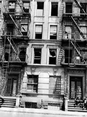 Burned Out Apartment Building in Harlem, New York City, 1946