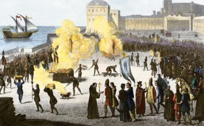 Burning Bishops at the Stake during the Spanish Inquisition