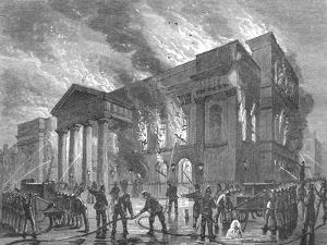 Burning of Covent Garden Theatre, 1856
