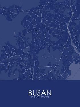 Busan, Korea, Republic of Blue Map