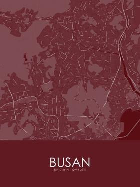 Busan, Korea, Republic of Red Map