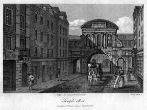 Temple Bar, London, 1805 by Busby