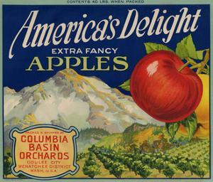 Business Americana Food; Fruit Crate Labels, Columbia Basin Orchards