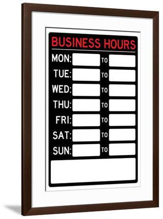 Business Hours--Framed Art Print