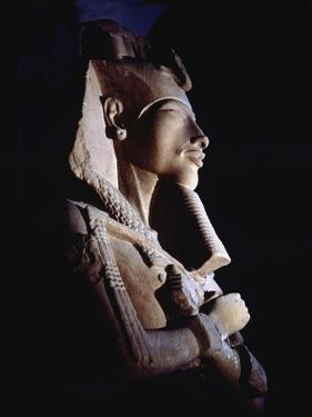 Bust from a Colossal Statue of Akhenaten, One of a Series Depicting the King in Various Guises…