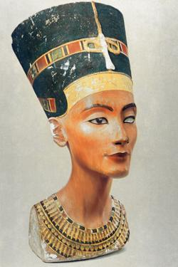 Bust of Nefertiti, Queen and Wife of the Ancient Egyptian Pharaoh Akhenaten (Amenhotep I)