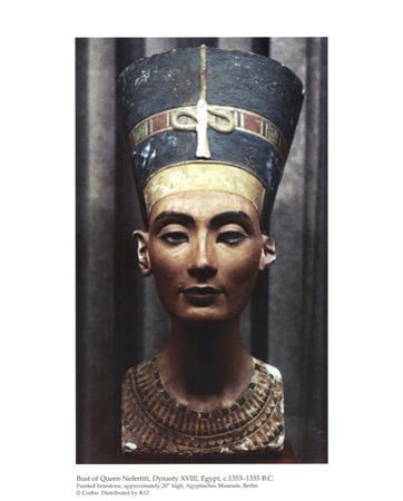 Bust of Queen Nefertiti Dynasty XVIII Egypt