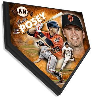 Buster Posey Home Plate Plaque