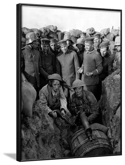 Buster s'en va-t-en guerre (DOUGHBOYS) by EdwardSedgwick with Buster Keaton, 1930 (b/w photo)--Framed Photo