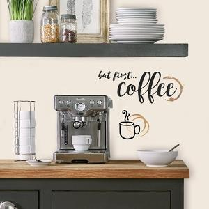 But First Coffee Quote Peel And Stick Wall Decals