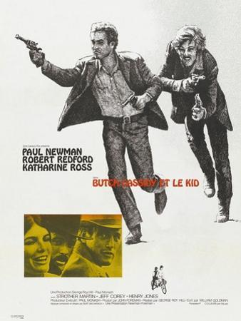 Butch Cassidy and the Sundance Kid, French Movie Poster, 1969