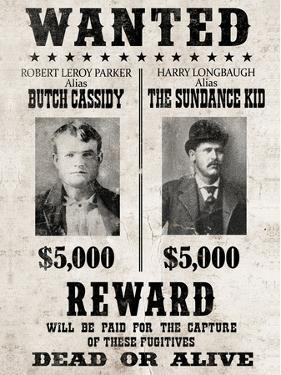 Butch Cassidy and The Sundance Kid Wanted Poster
